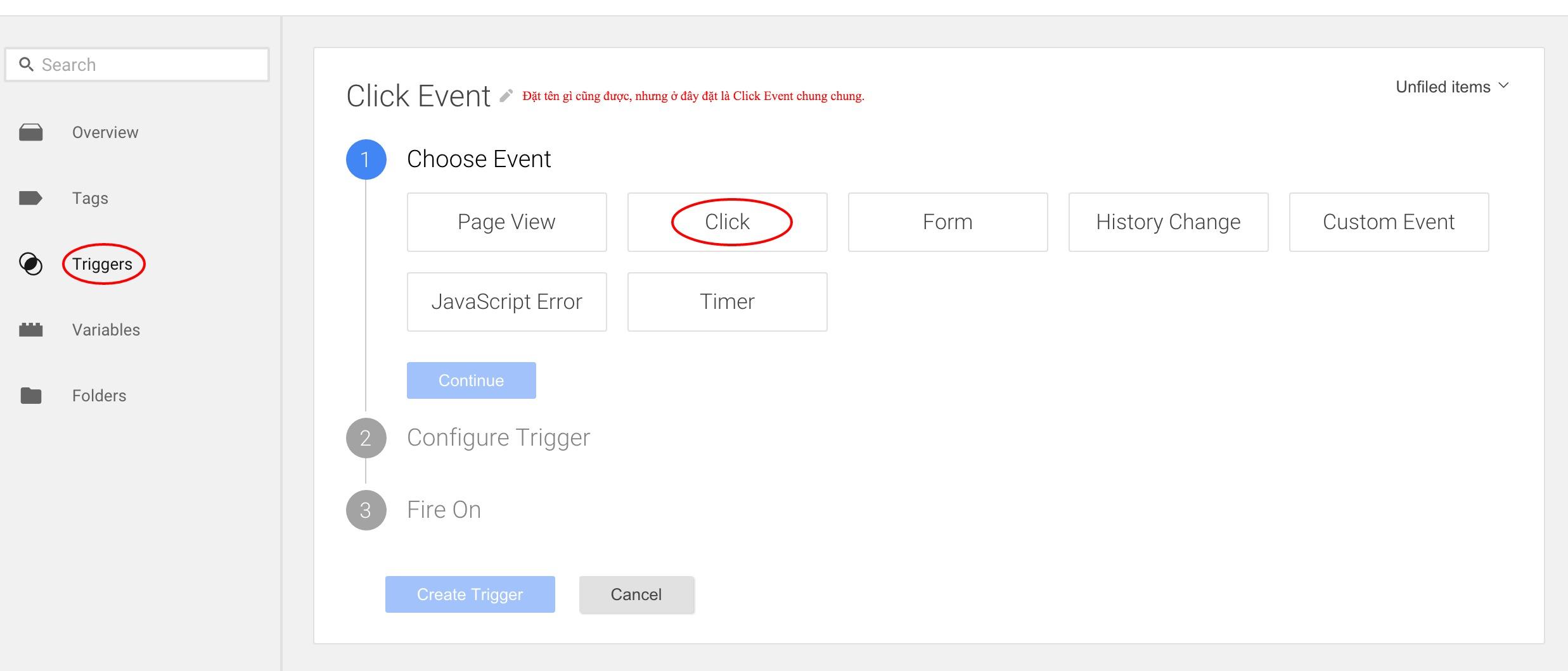 Click Event - Trigger