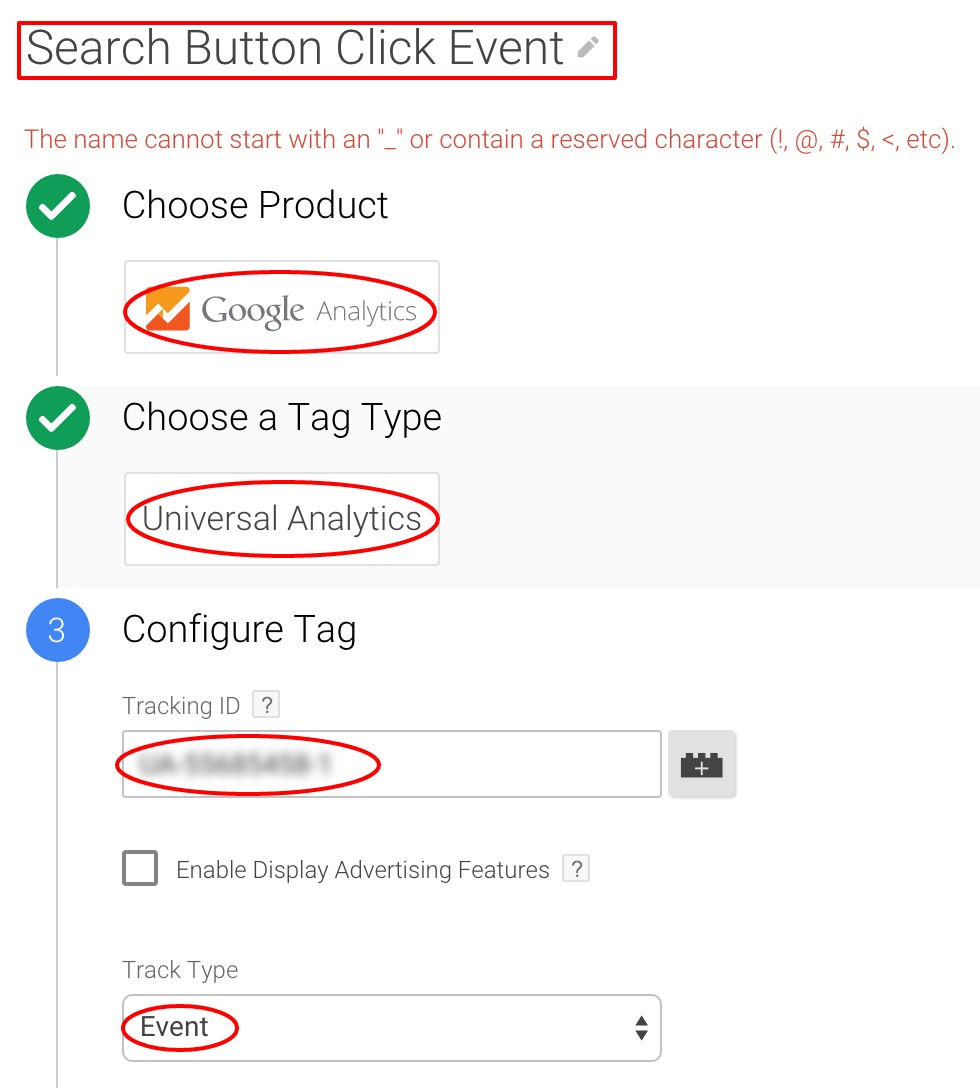 Config Event Tracking Google Tag Manager